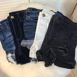 Bundle 5 Denim Shorts Not So Mystery Box XS 0 1